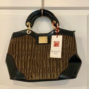 BRACCIALINI Italian Made Nylon and Patent Leather